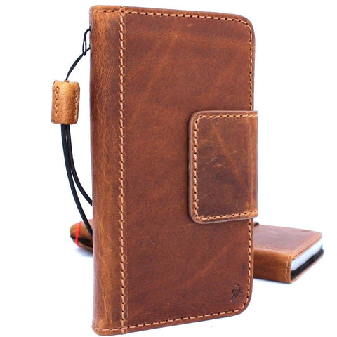 Genuine oiled leather Case for Samsung Galaxy S8 Active book wallet handmade cover sport daviscase mag IL s 8