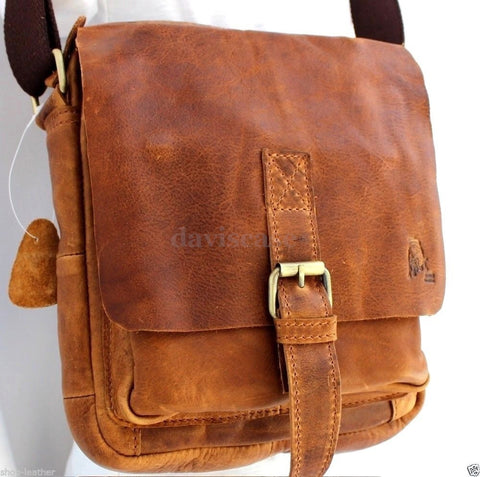 Genuine vintage Leather Shoulder Satchel Bag Messenger cross body 10 tablet  Purse Hobo Satchel  handicraftfor ipad air case