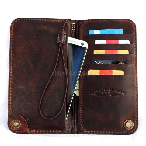 genuine leather Case for htc one m9 and apple iphone 6 plus + galaxy note 4  3 soly z3 z4 book wallet cover