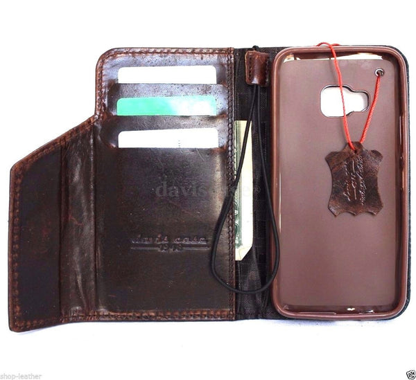 genuine natural leather Case for Htc One M9 bible book wallet luxury cover s Businesse premium IL
