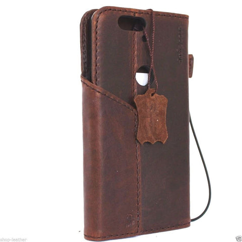 Genuine Real Leather Case for Huawei Nexus 6P Bible Book Wallet Handmade Retro Luxury Nz