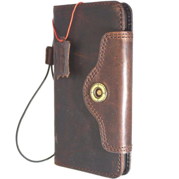 Genuine Full leather iPhone 8 Plus case cover wallet credit book luxury natural slim holder Davis