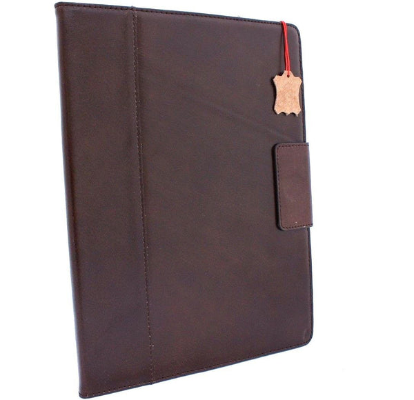 Genuine full Leather case for apple iPad Pro 12.9 cover 2017 stand magnetic brown slim cards slots davis luxury holder