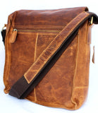 Vintage Men Genuine Cowhide real Leather Shoulder x School Bag iPad 2 Case 1 3 s