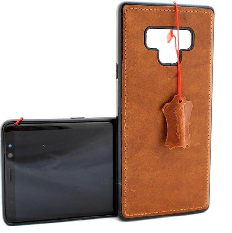 Genuine leather case fo samsung galaxy note 9 book cover soft magnetic vintage slim rubber car holder daviscase