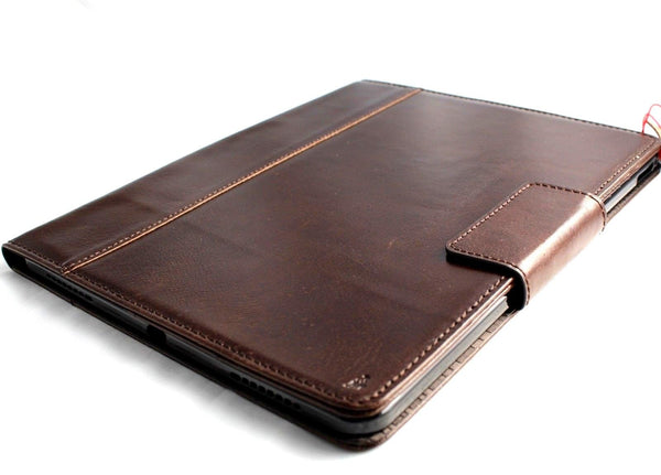 Genuine full Leather case for apple iPad Pro 12.9 A1876 3rd gen 2018 cover stand magnetic brown slim cards slots davis luxury