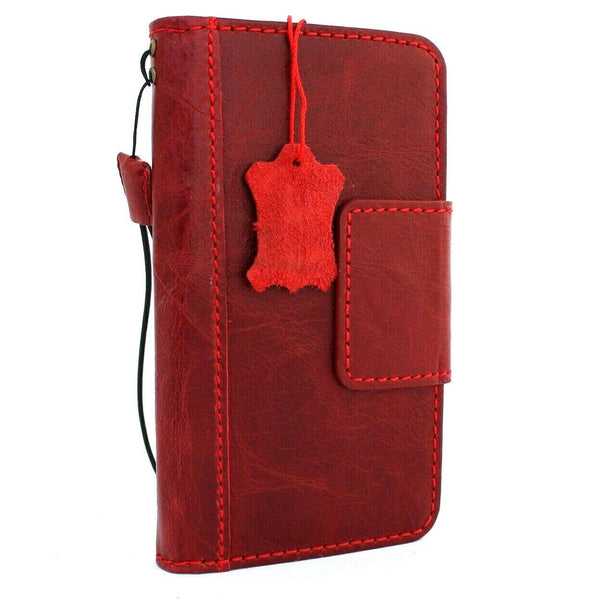 Genuine leather Case for Samsung Galaxy S10 Plus book wallet cover Cards wireless charging ID window Jafo magnetic slim Red daviscase