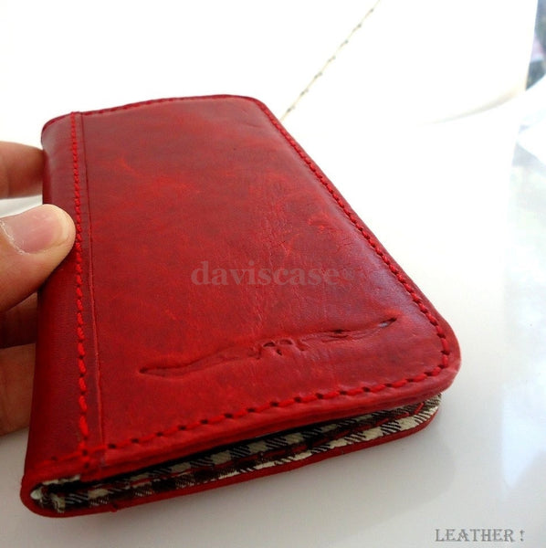 genuine soft leather Case 3S Samsung Galaxy S3 3 book wallet credit cards s G id