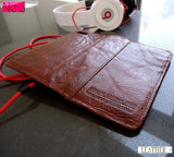 genuine real leather case for iphone 5 cover book wallet stand holder crard ID d wine brown freak handmade