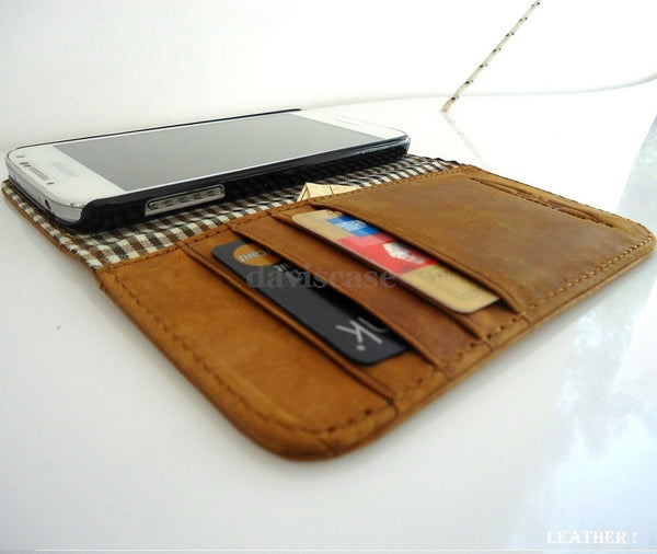 genuine full leather Case for Samsung Galaxy S4 s 4 book wallet handmade skin ip