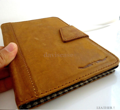 genuine Leather Bag for iPad mini 4 case cover handbag apple stand magnet brown