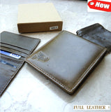 Men Money Clip 100% Genuine Leather wallet Bag Coins creditcard ID CARD slot new