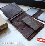 Men Money Clip BIG Genuine Leather wallet Bag Coins Removable 5 4 10 ID CARD NEW
