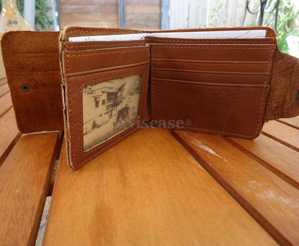 Genuine real leather man wallet bag Coin Purse CreditCard TOUGH dragon japan ID
