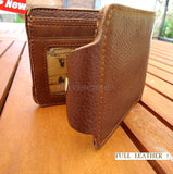 Genuine full leather man wallet bag Coin Purse bifold CreditCard TOUGH Patch new