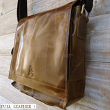 Genuine real Leather Bag Messenger iPad handbag man retro 2 3 10 ebook  9 10 11