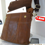 full Leather Bag Messenger iPad LAPTOP Genuine Brown 2 vintage classic 3 retro 1 4 new