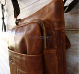 Genuine real Leather Bag Messenger iPad laptop man tote 2 3 4 RETRO style 12 13