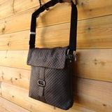 Genuine leather men messenger shoulder bag hand bag Special model Style new gray