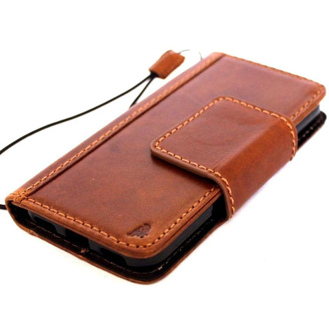 Genuine natural Leather Case for Google Pixel Book Wallet premium Handmade magnetic slim jafo 48