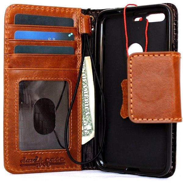 Genuine oiled Leather Case for Google Pixel Book Wallet Handmade Retro magnetic Luxury IL slim