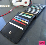 Men woman Money genuine leather Credit Card id Holder Wallet 18 slots handmade bag creditcard big !