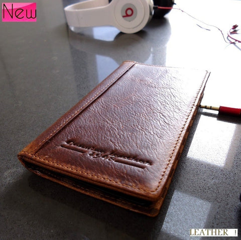 genuine natural leather Case for nokia lumia 920 book wallet stand holder new BROWN