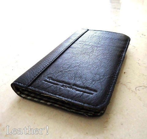 genuine natural leather case for SONY xperia z cover purse pouch book wallet stand sonyexz BLACK