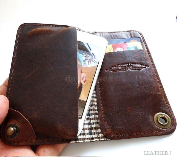 genuine leather case for iphone 5 book wallet cover s 4 5s handmade retro 5c c