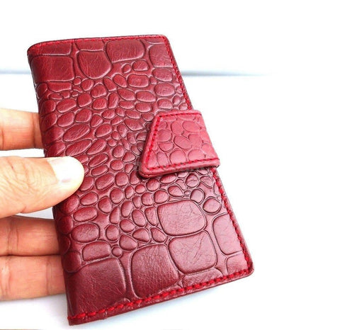 genuine real natural leather Case fit Galaxy S3 s 3 book wallet crocodile Design