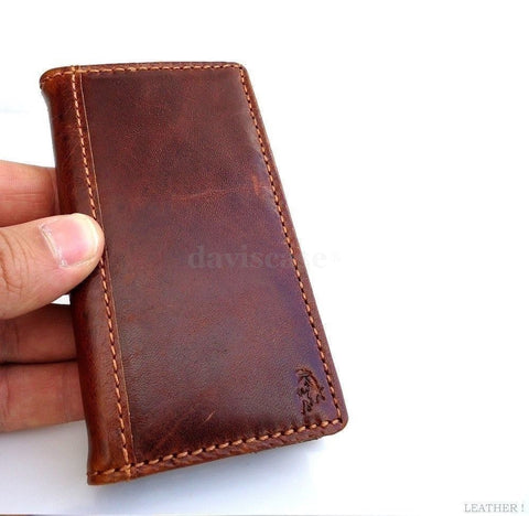 genuine vintage leather Case 3S Samsung Galaxy S3 3 book wallet credit cards s G
