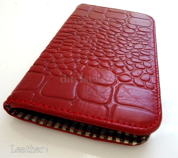 genuine leather Case For Samsung Galaxy Note I 1 book wallet handmade one red id