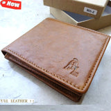 Genuine leather man wallet case Coin Purse Credit Card brown genuine SO HIT new