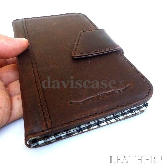 genuine bull leather Case for Samsung Galaxy mega 6.3 I9200 book wallet handmade