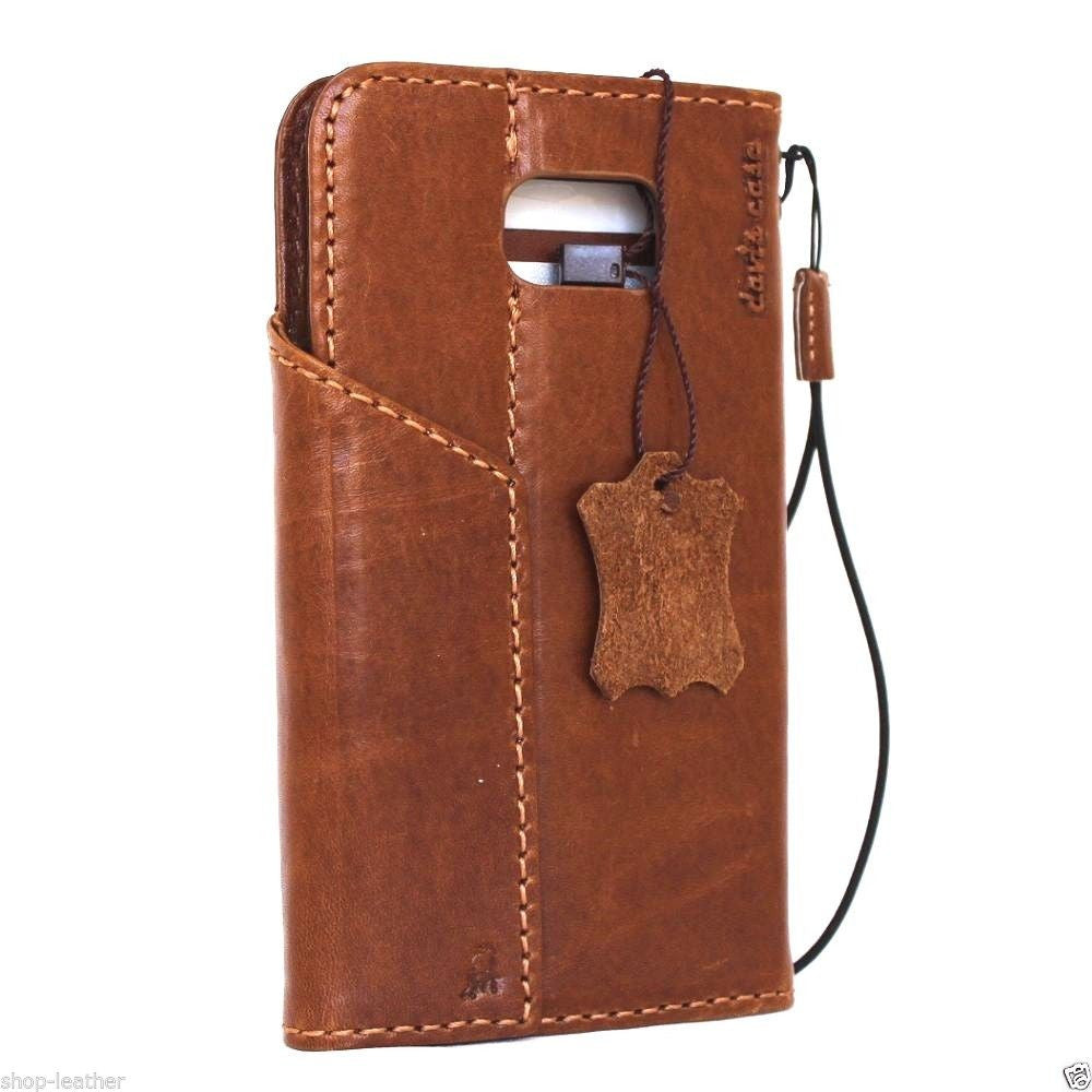 new arrival ca600 7db77 Genuine vintage Leather Case for Samsung Galaxy S6 Edge Plus Book Wallet  magnet cover Handmade Retro light brown thin Luxury Art daviscase