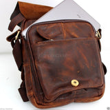 Genuine vintage Leather Shoulder Satchel Bag Messenger cross body 10 tablet  Purse Hobo Satchel  handicraft