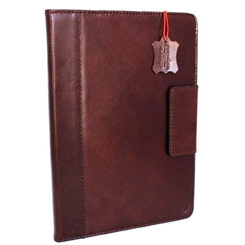 genuine real Leather case for apple iPad Air 2 hard magnet cover brown thin cards slots luxury slim 2A1566 daviscase