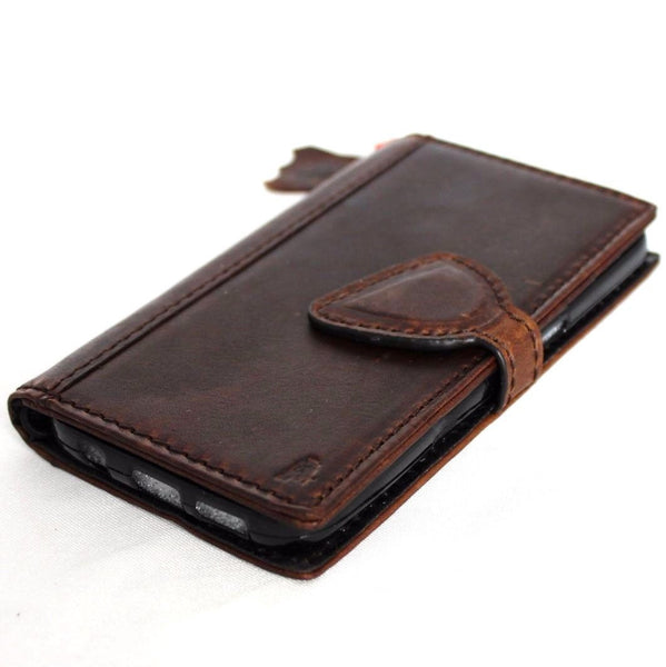 genuine hige quality leather Case for Samsung Galaxy S7 book wallet handmade cover s Businesse jafo 48