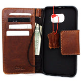 Genuine Italian leather Case for Samsung Galaxy s7  book wallet luxury cover Business Daviscase