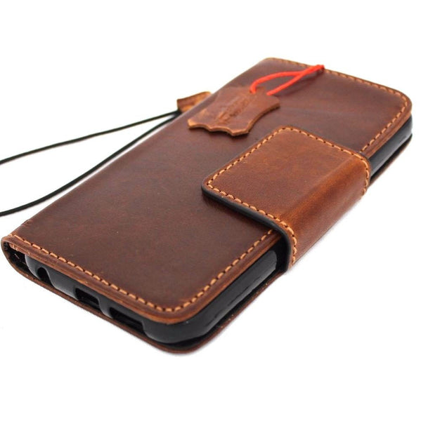 genuine high quality leather Case for Samsung Galaxy S7 book natural wallet cover  jafo 48 design lite mag