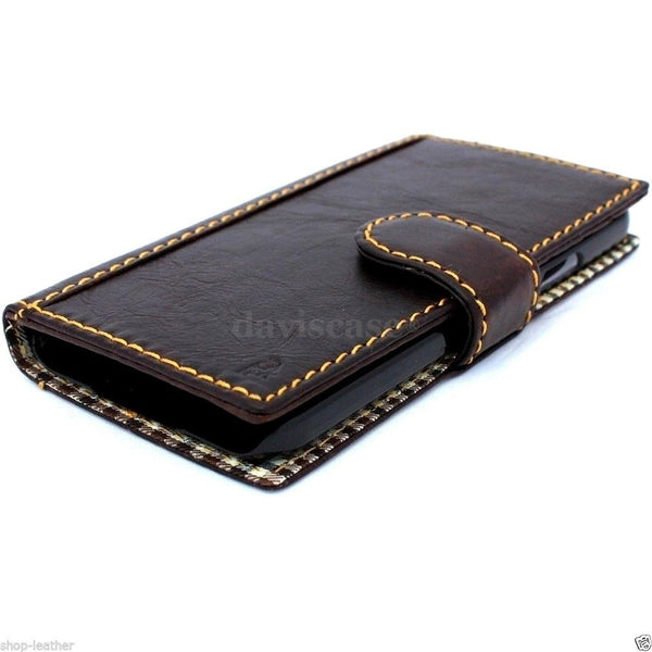 genuine italian leather case for samsung galaxy s5 hard cover purse pro wallet stand luxury business