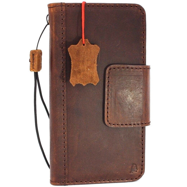 Genuine vintage leather Case for Samsung Galaxy S9 Plus book jafo wallet magnetic closure cover cards slots strap daviscase