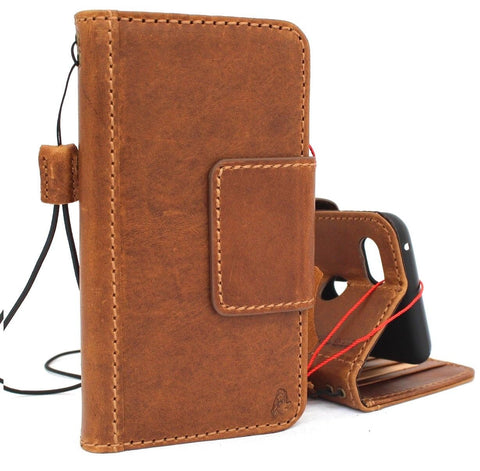 Genuine Tanned Leather Case for Google Pixel 3 XL Book Wallet Handmade holder Retro Luxury Full magnetic Closure Davis