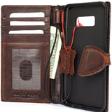 Genuine italian leather Case for Samsung Galaxy S8 book wallet magnetic handmade cover s Businesse daviscase