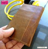 Genuine real leather brown color fit fot iPhone 4 case cover 4s wallet creditcard 3s 3g 5 holder (IP4LC02)