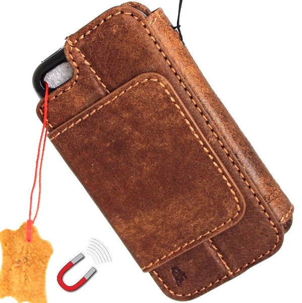genuine full leather case for iphone SE 5c 5s cover book wallet credit card 5s magnetic removeable detachable daviscase