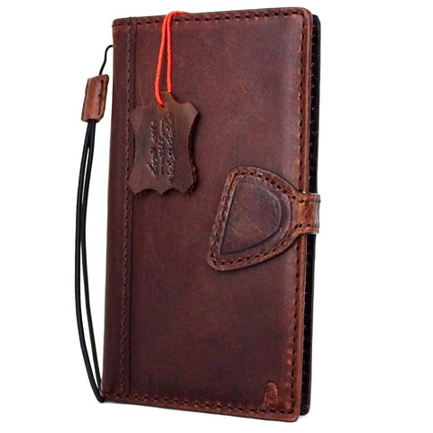 Genuine REAL leather iPhone 7 magnetic case cover wallet credit holder book luxury Rfid Pay eu