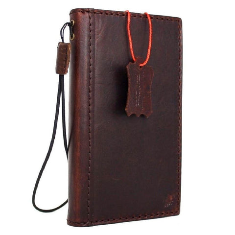 Genuine Soft Leather case for iPhone 8 Plus Cover Wallet Credit Holder Book Luxury Slim Davis