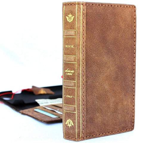 Genuine full leather case for iphone 8 cover book bible wallet cards vintage business slim 7 Wireless charging davis classic Art