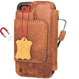 Genuine italian leather iPhone 6 6s safe case cover wallet credit holder book Removable detachable davis